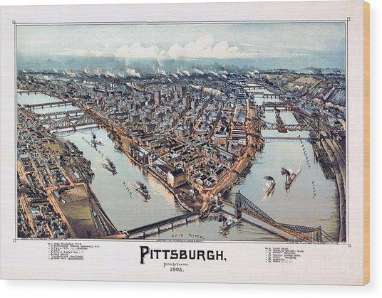 Pittsburgh Pennsylvania 1902 Wood Print