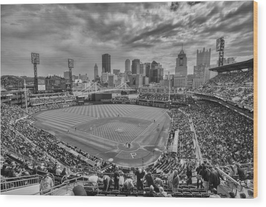 Pittsburgh Pirates Pnc Park Bw X1 Wood Print