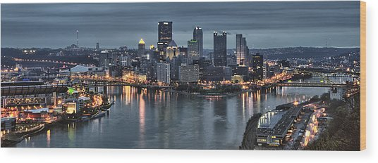 Pittsburgh Skyline 2 Wood Print
