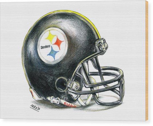Pittsburgh Steelers Helmet Wood Print