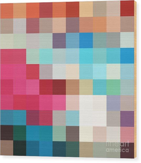 Pixel Art 2 Wood Print
