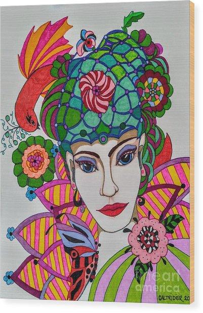 Pixie Girl Wood Print