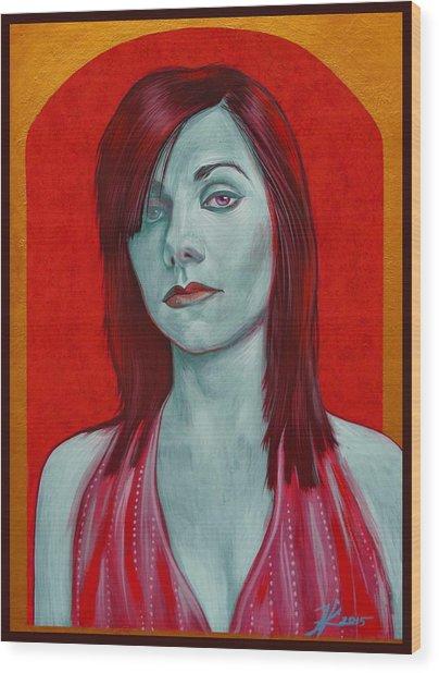 Pj Harvey Wood Print by Jovana Kolic