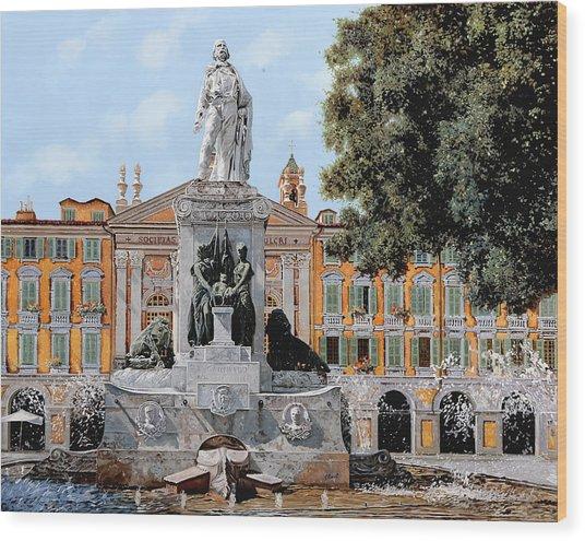 Place Garibaldi In Nice  Wood Print