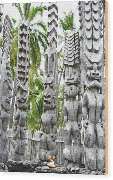 Place Of Refuge - Pu'uhonua O Honaunau National Park Hawaii Wood Print