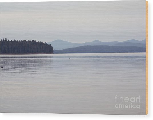 Placid Mountain Lake Wood Print