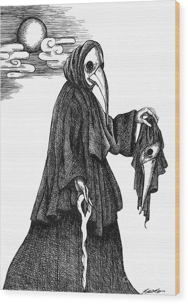 Plague Doctor Wood Print
