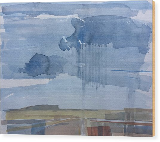 Plain Rain Wood Print by Vaughan Davies