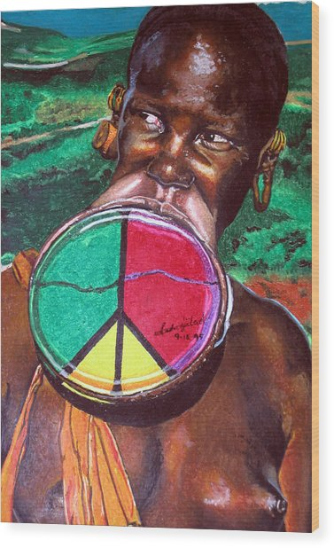 Plains Of Peace Wood Print by Andre Ajibade
