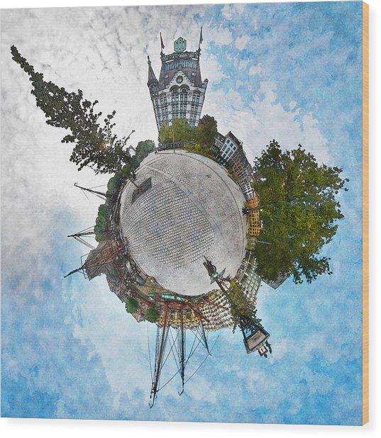 Planet Gelderseplein Rotterdam Wood Print
