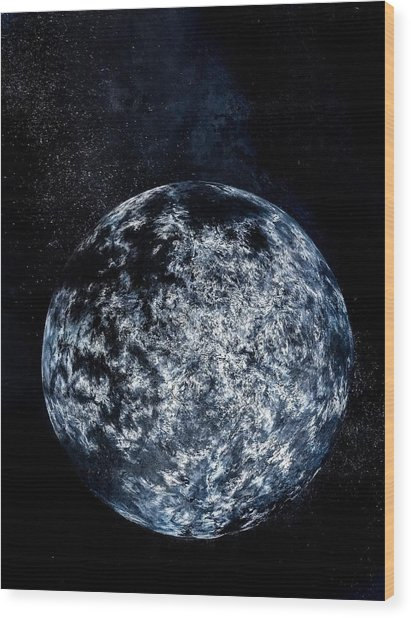 Planet Near A-type Star Wood Print