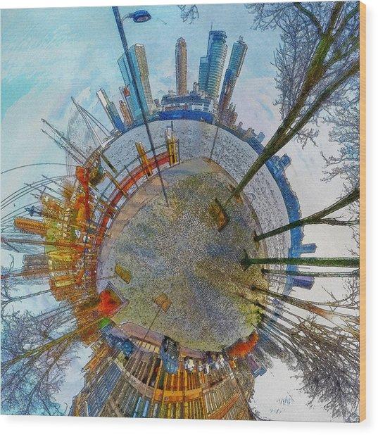 Planet Rotterdam Wood Print