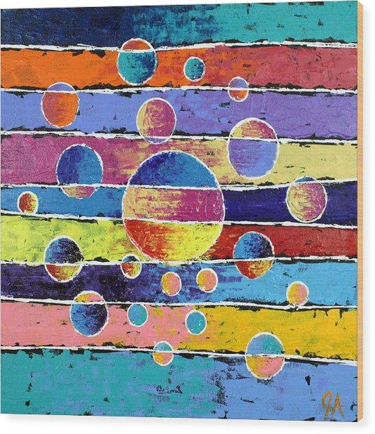 Planet System Wood Print