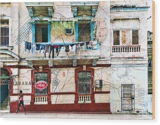 Plano De La Habana Wood Print