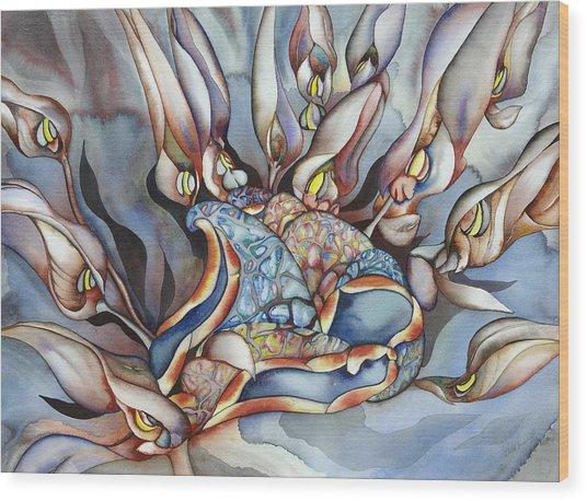 Plant Life Below Wood Print by Liduine Bekman