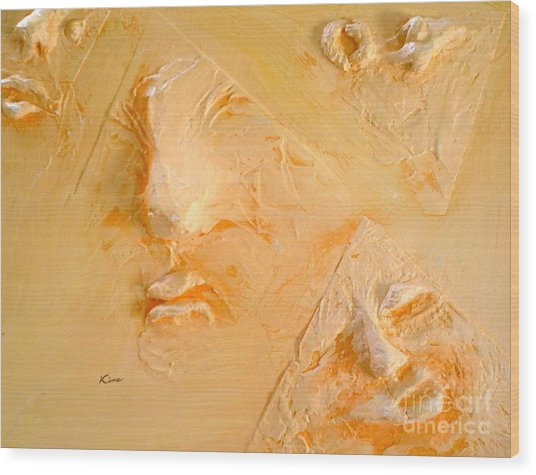 Plastic Wraps Wood Print by Kime Einhorn