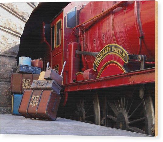 Platform Nine And Three Quarters Wood Print