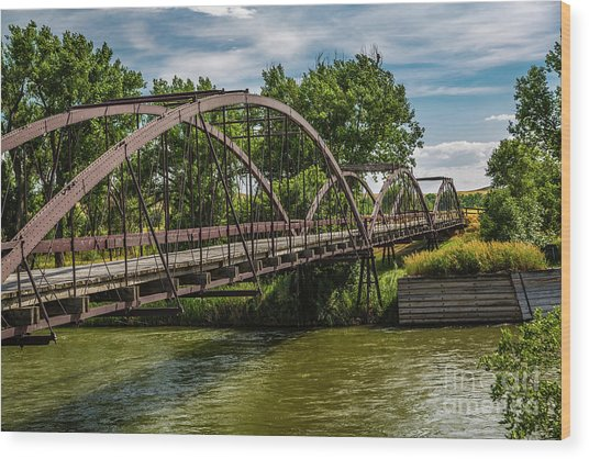 Platte River Bridge Wood Print
