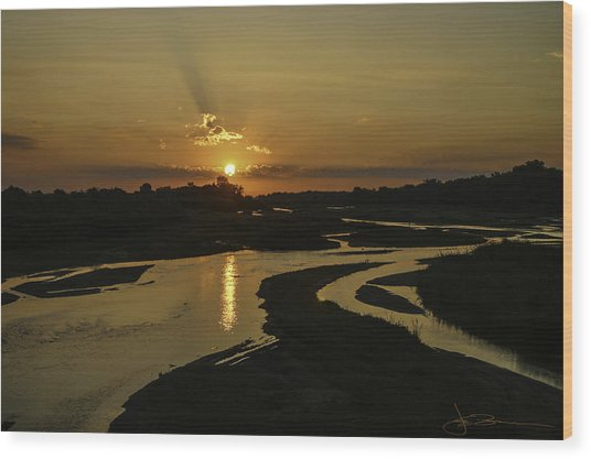 Platte Sunrise 3890 Wood Print
