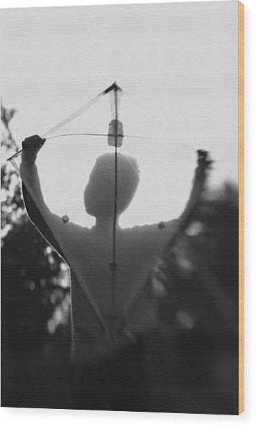 Play A Kite #2 Wood Print by Jay Satriani