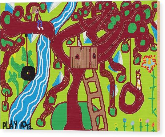 Play Wood Print