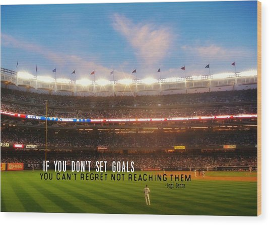Play Ball Quote Wood Print by JAMART Photography