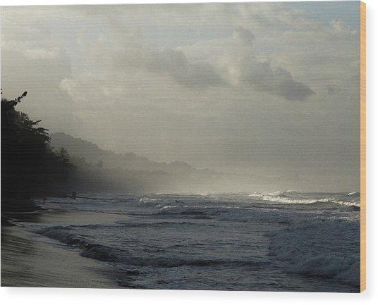 Playa Negra Beach At Sunset In Costa Rica Wood Print