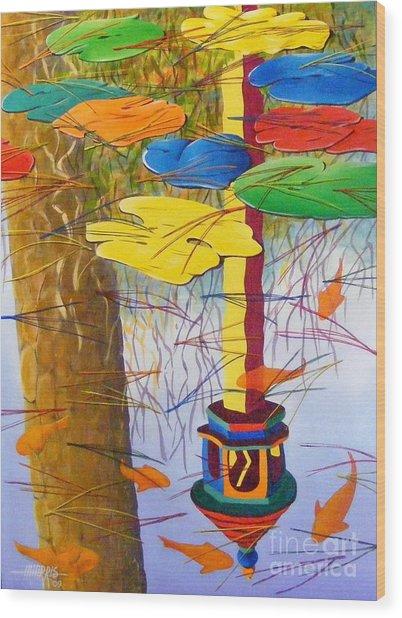 Playful Pond Wood Print by Hugh Harris