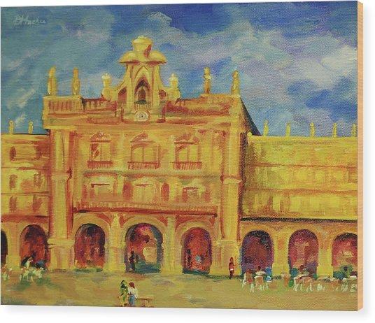 Plaza Mayor Salamanca Wood Print by Danielle Hacker