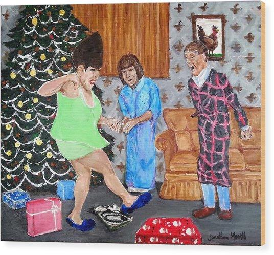 Please Dawn Not On Christmas Wood Print