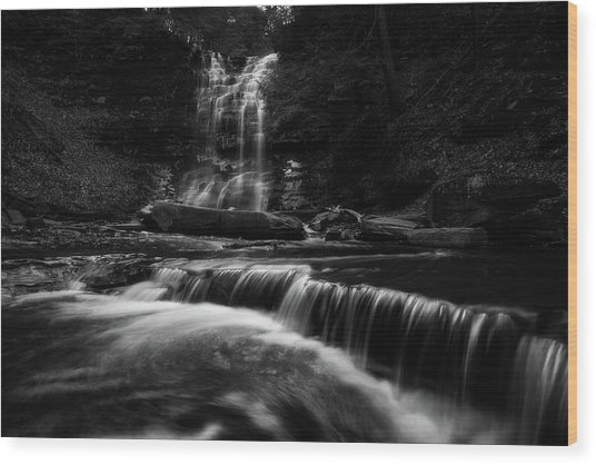 Plotter Kill Falls Wood Print