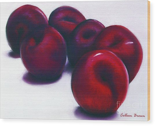 Plum Crazy Wood Print by Colleen Brown