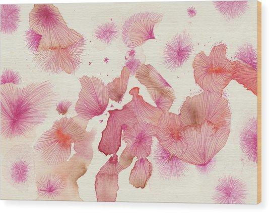 Plum Trees - #ss16dw017 Wood Print by Satomi Sugimoto
