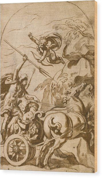 Pluto Abducting Persephone Wood Print