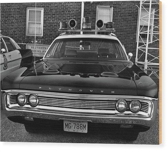Plymouth Police Car Wood Print