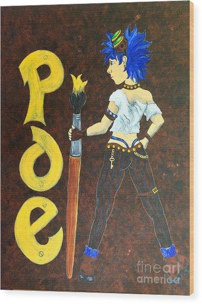 POE Wood Print