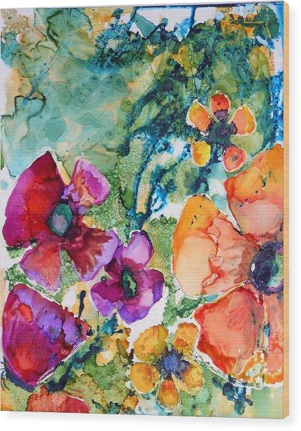 Poetry Of Petals Wood Print