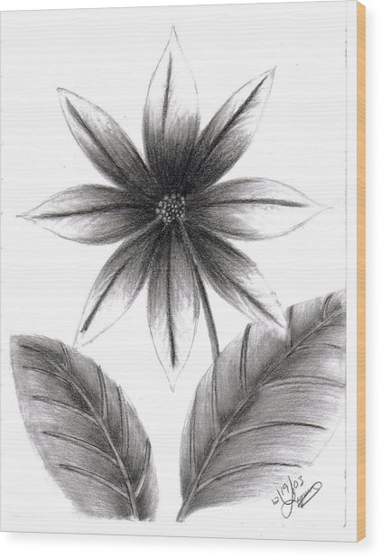 Poinsettia Wood Print by Lynnette Jones
