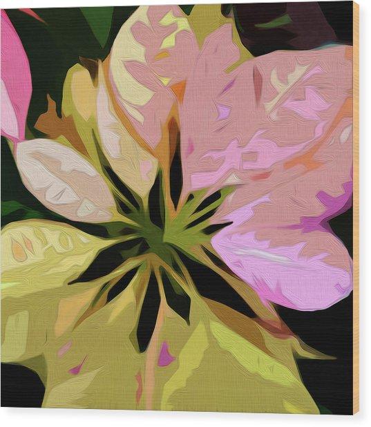 Poinsettia Tile Wood Print