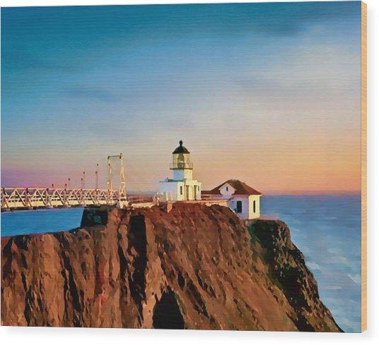 Point Bonita Lighthouse Wood Print
