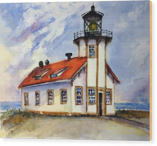 Point Cabrillo Light Station - Fort Bragg Wood Print
