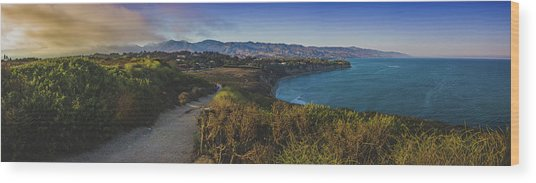 Point Dume Sunset Panorama Wood Print