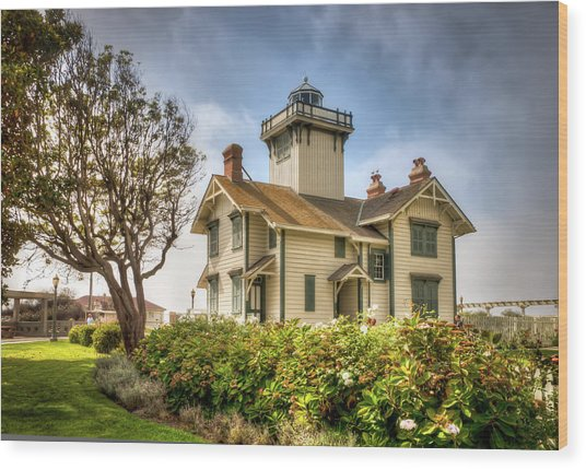 Point Fermin Lighthouse Wood Print