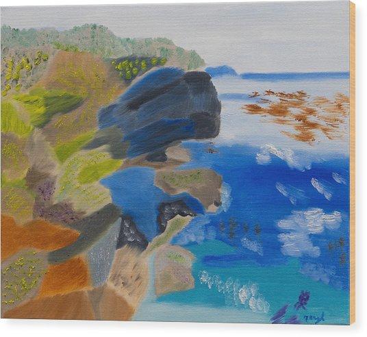Cliffs Of Point Lobos Ca Wood Print