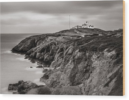 Point Lynas Lighthouse In Llaneilian On Anglesey Wood Print
