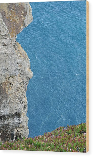 Point Reyes Cliffs Wood Print