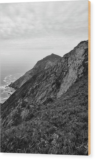 Point Reyes II Bw Wood Print