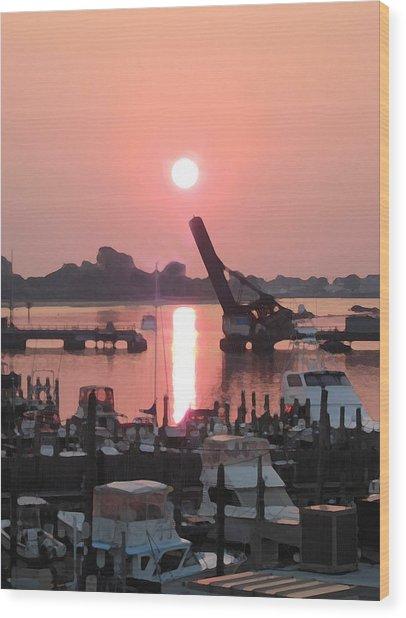 Point Sunrise Wood Print by Paul Barlo