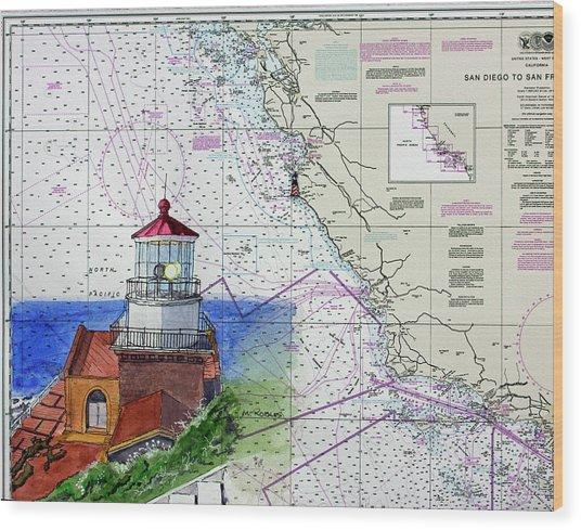 Point Sur Light Station Wood Print