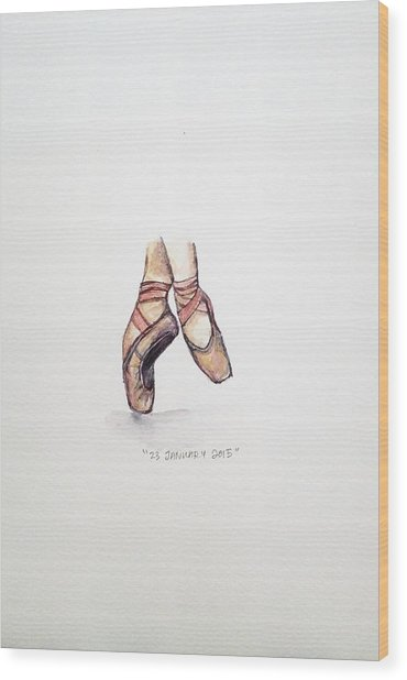 Pointe On Friday Wood Print
